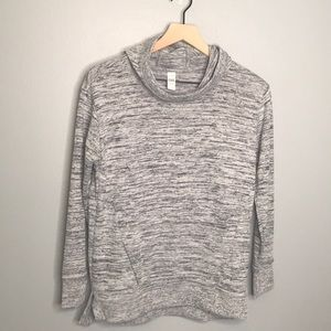Athleta Girl | gray cowl neck hooded sweater XL